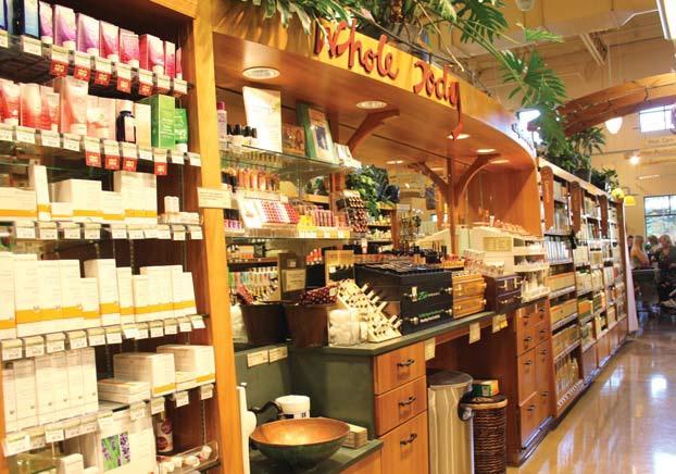 호울푸드마켓에서는 식료품뿐 아니라 화장품 등 다양한 유기농 제품들을 만날 수 있다.