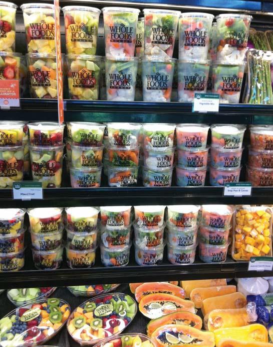 호울푸드마켓의 다양한 반가공제품들.