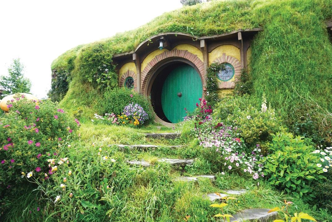 영화 '호빗'의 주인공 빌보 배긴스의 집. 호비튼의 상징이기도 하다.