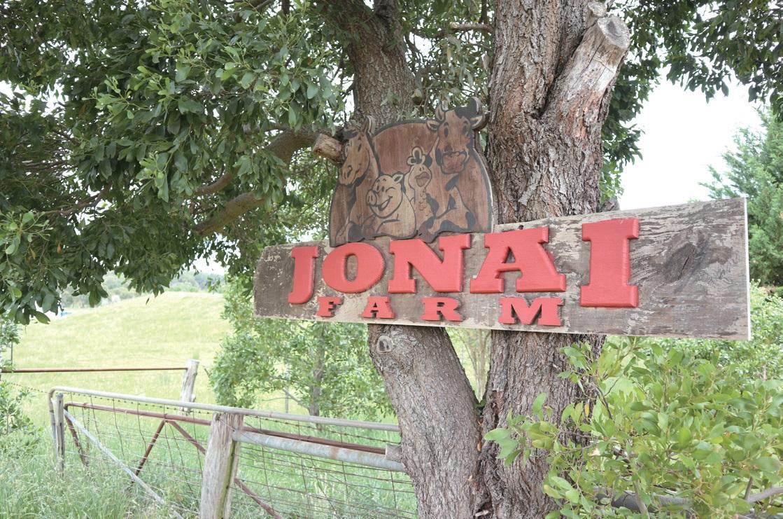 조나이 유기양돈농장의 입구.
