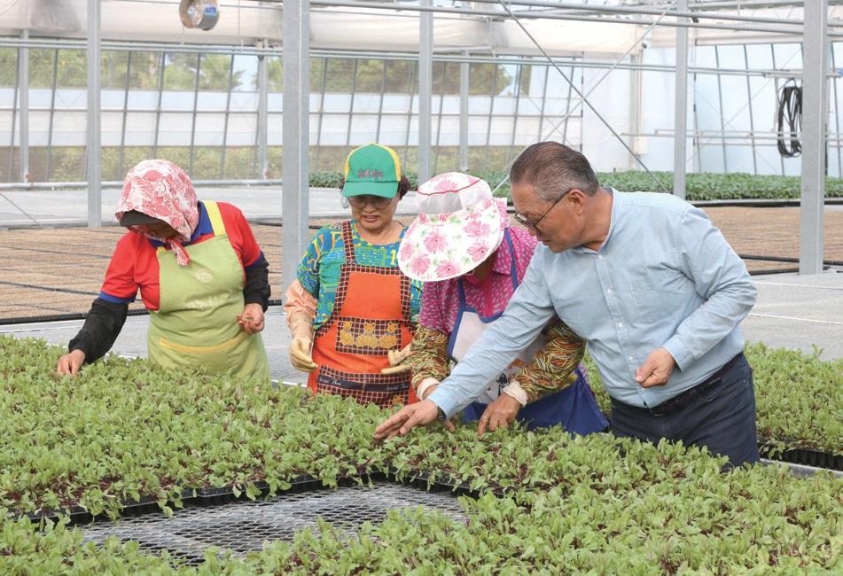 고령화로 일손이 부족한 농가에 친환경 모종을 공급해 지역 친환경 농업 확대에 힘쓰고 있다.