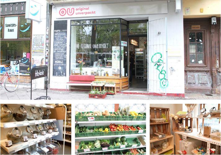 독일 베를린시의 '포장하지 않는' 상점 OU.