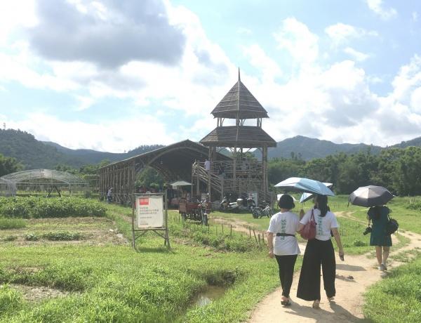 새로운 생태공동체를 형성하고 있는 치시 자연마을의 유기농 농장.