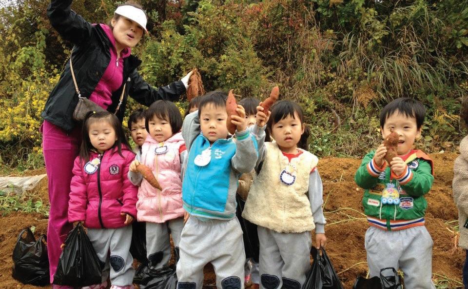 도시 아이들의 농촌체험 현장. ⓒ옥천신문