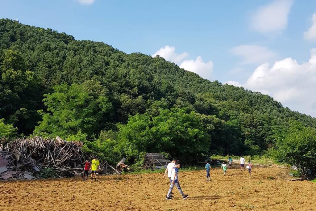 한 폭의 그림 같은 농촌 마을. ⓒ춘천별빛사회적협동조합