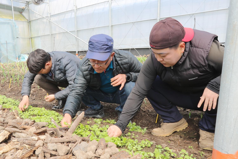 """김형신 대표는 """"예전에는 교육생들에게 '내가 해보니까 되더라'라고 말만 했지만, 이제는 학생들이 내 농사를 재현할 수 있는지 중점을 두고 교육한 다""""고 말했다."""